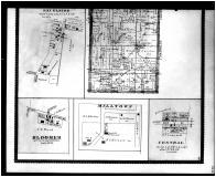 Townships 8, 9 N. Ranges 29, 30 W., Excelsior, Bloomer, Milltown, Central - Below, Sebastian County 1887