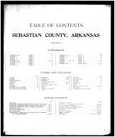 Table of Contents, Sebastian County 1903