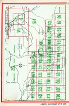 Index Map - Antelope Valley, Los Angeles County 1961