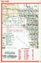 Index Map - Los Angeles City and County 1, Los Angeles County 1961