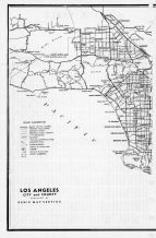 Los Angeles City and County Map 1, Los Angeles County 1961