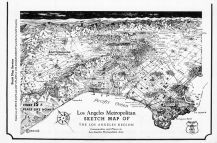 Los Angeles Metropolitan Sketch Map, Los Angeles County 1961