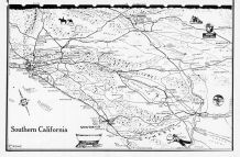 Southern California Map, Los Angeles County 1961