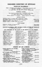 Engineers Directory of Officials - State of California, Los Angeles and Los Angeles County 1949