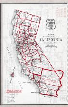 California State Map, Los Angeles and Los Angeles County 1949