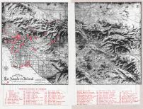 Los Angeles and Inland Relief Map - Points of Interest, Los Angeles and Los Angeles County 1949