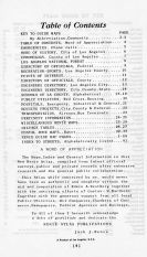 Table of Contents, Los Angeles and Los Angeles County 1949