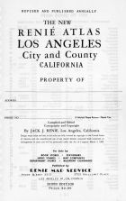 Title Page, Los Angeles and Los Angeles County 1949