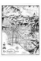 Los Angeles Area Map, Orange County 1961