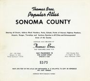 Title Page, Sonoma County 1957
