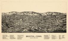 Bristol 1889 Bird's Eye View 17x27, Bristol 1889 Bird's Eye View