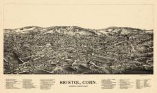 Bristol 1889 Bird's Eye View 24x39, Bristol 1889 Bird's Eye View