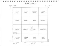 Adair County Code Map, Adair County 1990