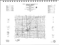 Adams County Highway Map, Adair County 1990