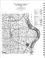 Allamakee County General Highway and Transportation Map, Allamakee County 1982
