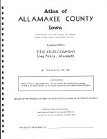 Title Page, Allamakee County 1982