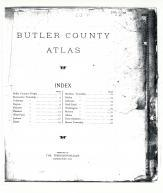 Title Page and Table of Contents, Butler County 1920c