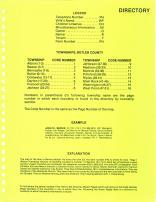 Directory 001, Butler County 1984