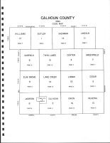 Calhoun County Code Map, Calhoun County 1986