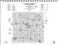 Carroll County Highway Map, Calhoun County 1986