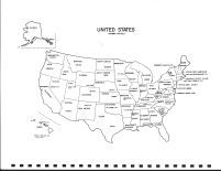 United States Map, Calhoun County 1986