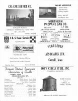 Cal-Car Service, Wurr Welding, Northern Propane, J & S Feed, Schroeder Associates, Farmers Mutual Insurance, Bob's Circlel, Carroll County 1980