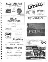 Hockett Collie, Lynks, Mueller's Furniture, Vincent Gehling, Johnson's Dept., Willow Creek, Lester Joens & Sons, Carroll County 1980