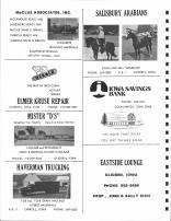 McClue Associates, Salisbury Arabians, Elmer Kruse Repair, Mister D's, Haverman Trucking, Eastside Lounge, Carroll County 1980