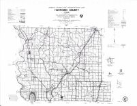 Harrison County Map, Crawford County 1990