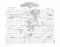 Dickinson County Outline Map, Dickinson County 1911