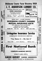 Title Page, Dickinson County 1959