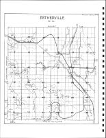 Estherville Township Drainage Map, Emmet County 1980