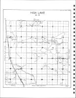High Lake Township Drainage Map, Emmet County 1980