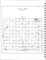 Iowa Lake Township Drainage Map, Emmet County 1980