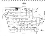 Iowa State Map, Emmet County 1980