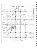 Twelve Mile Lake Township Drainage Map, Emmet County 1980