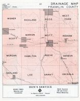 Franklin County Drainage Map, Franklin County 1950c