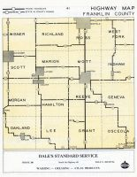 Franklin County Highway Map, Franklin County 1950c