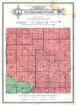 Adams and Spring Creek Townships, Mahaska County 1920