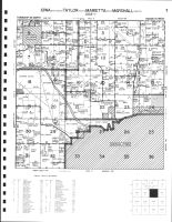 Code 7 - Iowa Township - SE, Taylor Township - S, Marietta Township - E, Marshall Township - N, Albion, Marshall County 1981