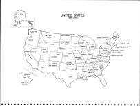 United States Map, Mitchell County 1977