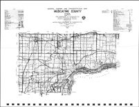 Muscatine County Highway Map, Muscatine County 1982