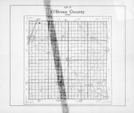 O'Brien County Map, O'Brien County 1947