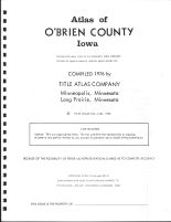 Title Page, O'Brien County 1976