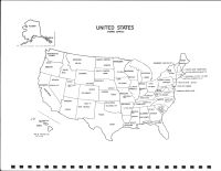 United States Map, O'Brien County 1976