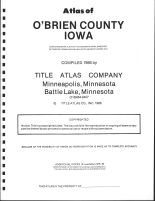 Title Page, O'Brien County 1986