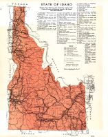 Idaho State Map, Latah County 1937