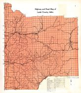 Latah County Higheay and Road Map, Latah County 1937