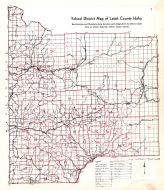 Latah County School District Map, Latah County 1937