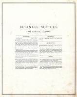 Business Notice, Cass County 1874